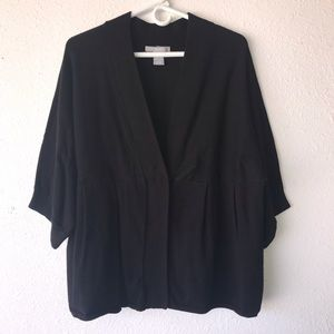 NY Collection Woman Black Cardigan, Size 2X